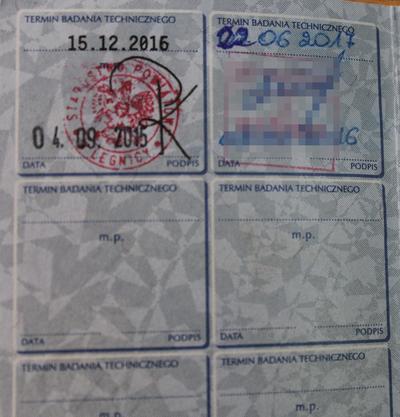 Legnica: Długopisem przerobiła wpis w dowodzie rejestracyjnym
