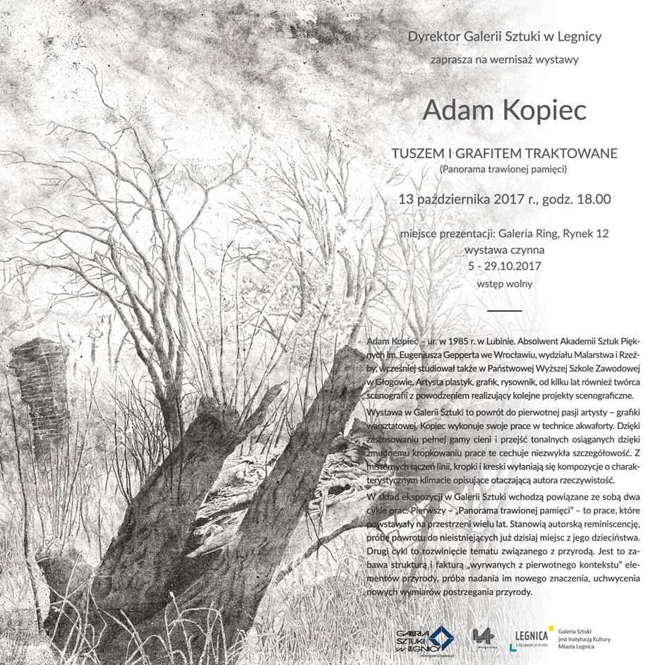 Grafiki Adama Kopca w Galerii RING