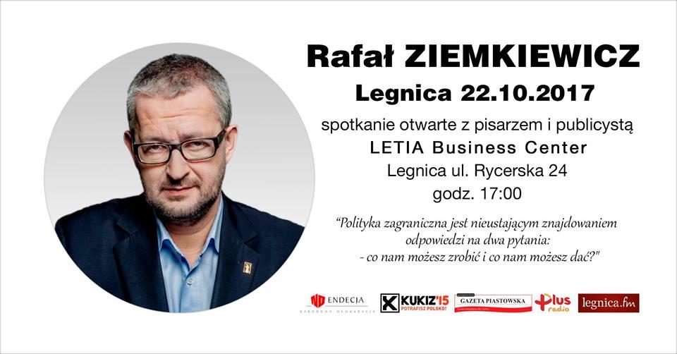 Rafał Ziemkiewicz odwiedzi Legnicę