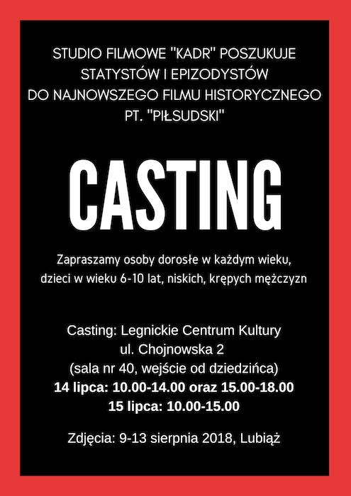 Legnica: Casting do filmu