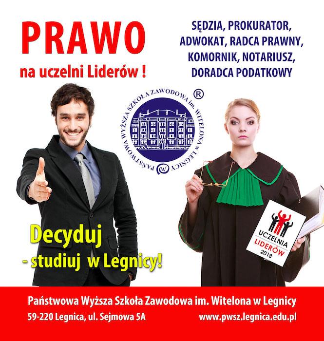 Studiuj Prawo w PWSZ im. Witelona w Legnicy!