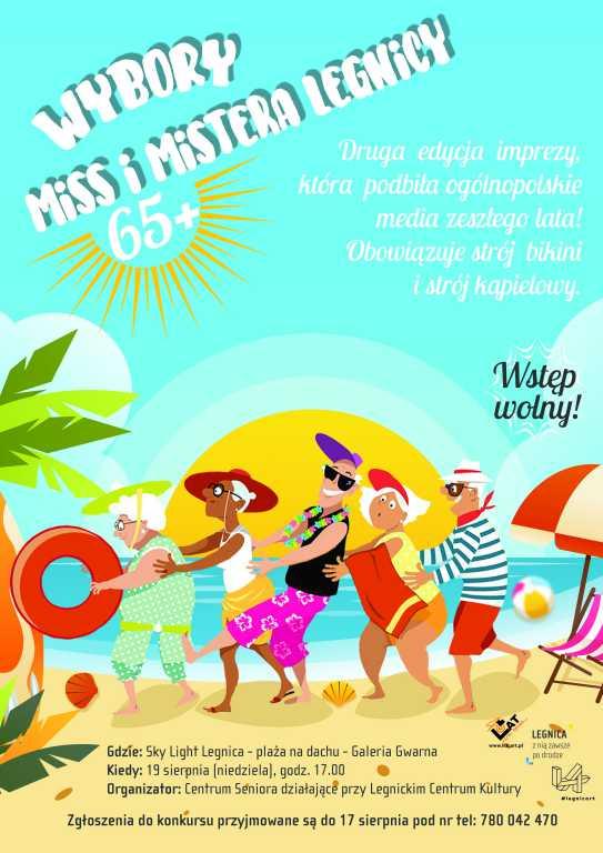 Wybory Miss i Mistera Legnicy 65 Plus na plaży Sky Light