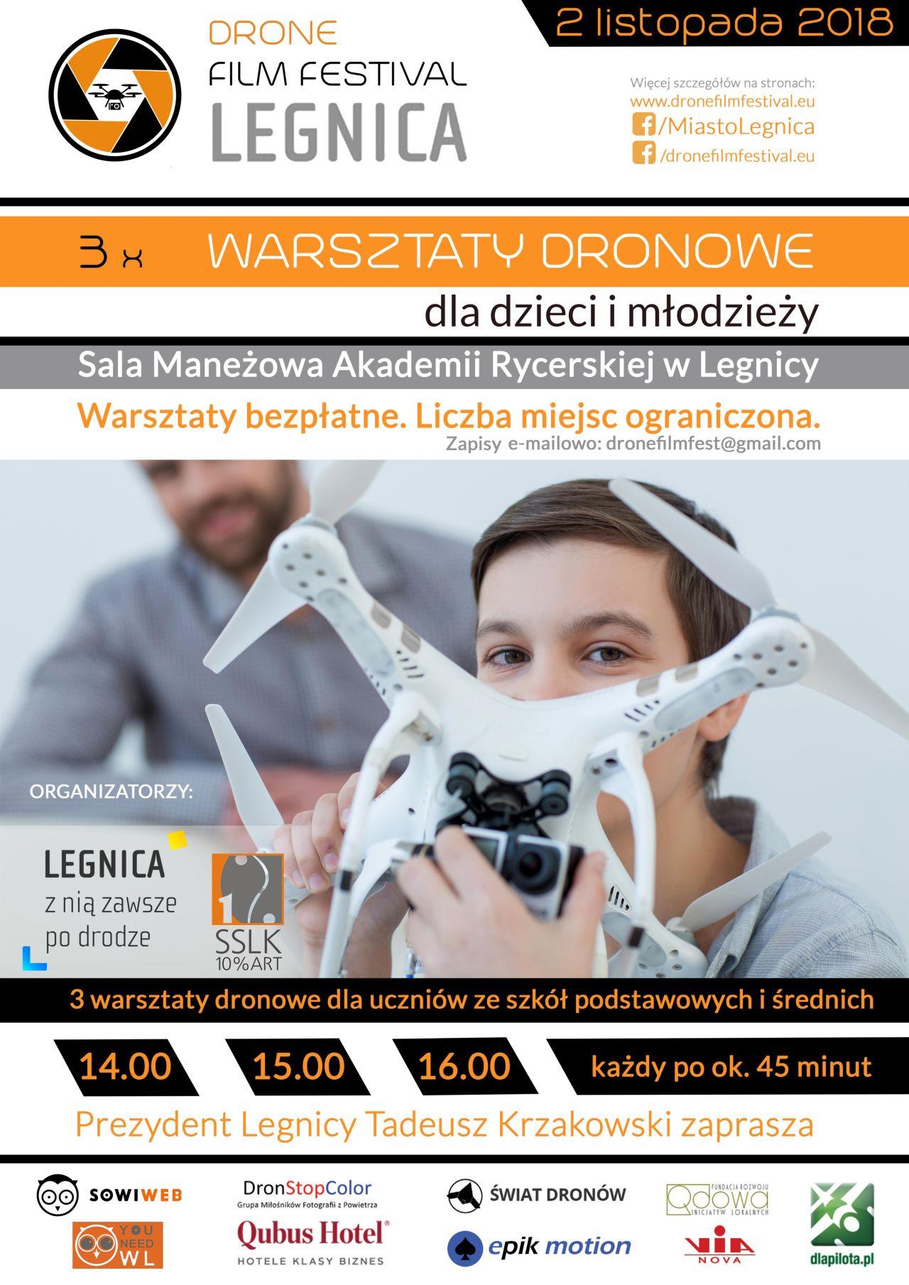 Gratka dla miłośników dronów. Festiwal i warsztaty w Legnicy