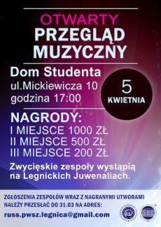Otwarty Przegląd Muzyczny w PWSZ im. Witelona w Legnicy