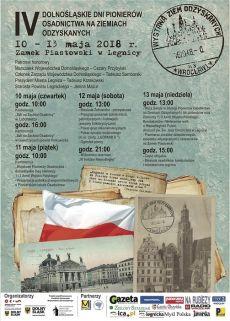 IV Dolnośląskie Dni Pionierów Osadnictwa na Ziemiach Odzyskanych w Legnicy